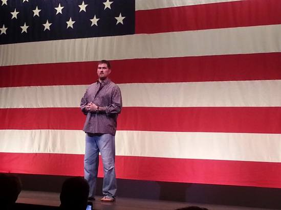 Marcus Luttrell during the Patriots Tour in Orange Park, FL
